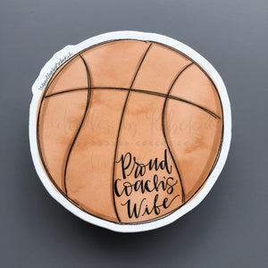 Proud Coach's Wife (Basketball) Sticker