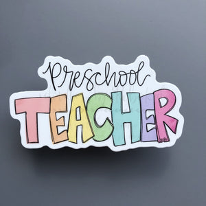 Preschool Teacher Sticker