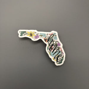 Florida Floral Home Sticker - Sticker