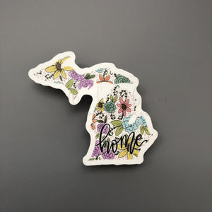 Michigan Floral Home Sticker - Doodles by Rebekah
