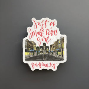 Bardstown Main Street Sticker (Color) - Doodles by Rebekah