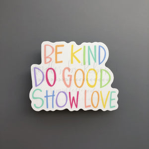 Be Kind Sticker - Doodles by Rebekah