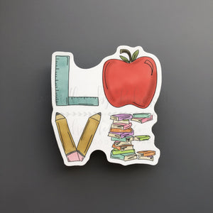 'LOVE' Teacher Sticker - Doodles by Rebekah