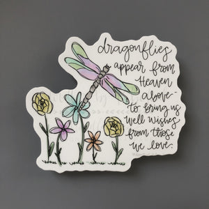 Dragonflies Appear From Heaven Above Sticker
