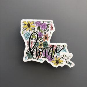Louisiana Floral Home Sticker - Doodles by Rebekah