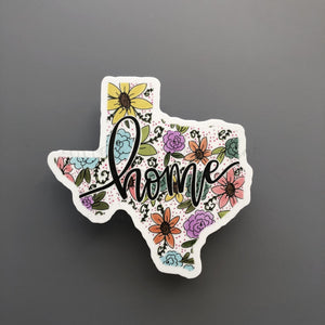 Texas Floral Home Sticker - Doodles by Rebekah