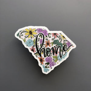 South Carolina Floral Home Sticker - Doodles by Rebekah