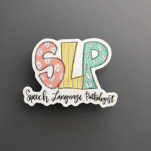 Speech Language Pathologist Sticker - Doodles by Rebekah