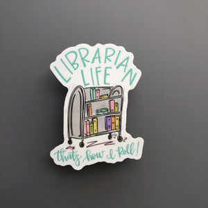 Librarian Life Sticker - Doodles by Rebekah