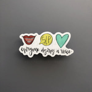 Everyone Deserves A Voice Sticker - Doodles by Rebekah