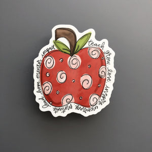 Apple Teacher Sticker - Doodles by Rebekah