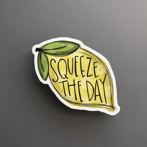 Squeeze The Day Sticker - Doodles by Rebekah