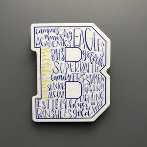 Bethlehem High School Word Art Sticker