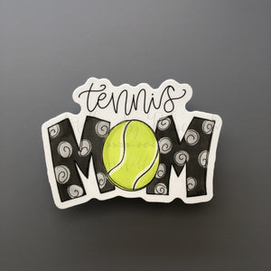 Tennis Mom Sticker - Doodles by Rebekah