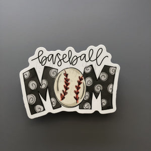 Baseball Mom Sticker - Doodles by Rebekah