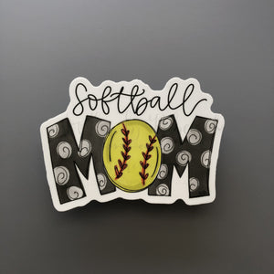 Softball Mom Sticker - Doodles by Rebekah