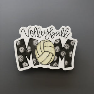 Volleyball Mom Sticker - Doodles by Rebekah