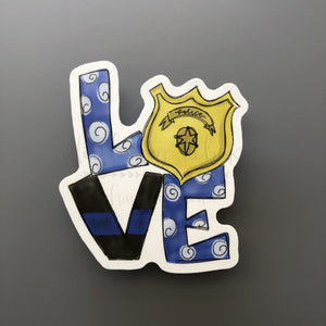 LOVE Police Sticker - Doodles by Rebekah