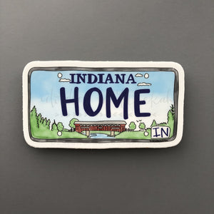 Indiana License Plate Sticker