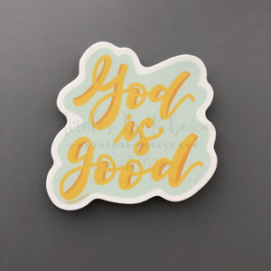 God Is Good Sticker - Sticker