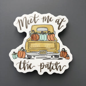 Meet Me At The Patch Sticker