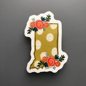 Indiana Floral Dot Sticker