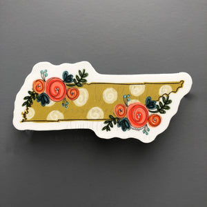 Tennessee Floral Dot Sticker