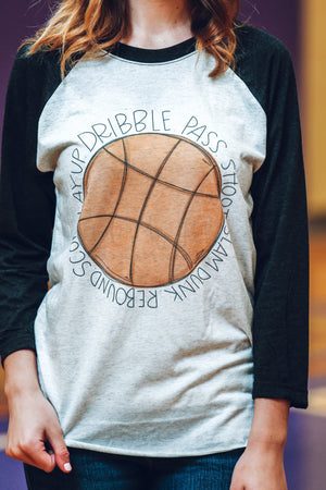 Basketball. Dribble. Pass. Score - Doodles by Rebekah