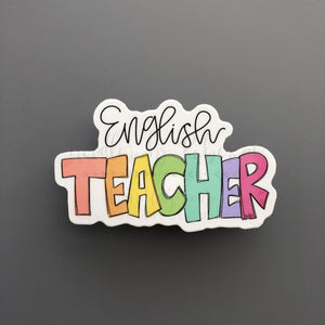 English Teacher Sticker - Doodles by Rebekah