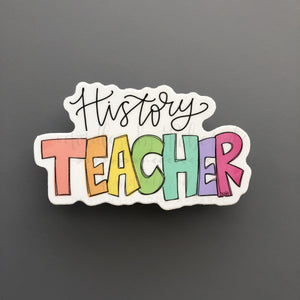 History Teacher Sticker - Doodles by Rebekah