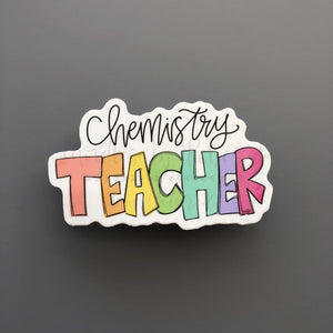 Chemistry Teacher Sticker - Doodles by Rebekah