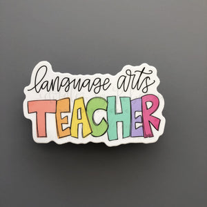 Language Arts Teacher Sticker - Doodles by Rebekah