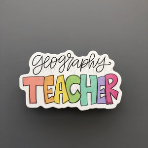 Geography Teacher Sticker - Doodles by Rebekah
