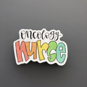 Oncology Nurse Sticker - Doodles by Rebekah
