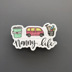 Nanny Life Sticker - Doodles by Rebekah