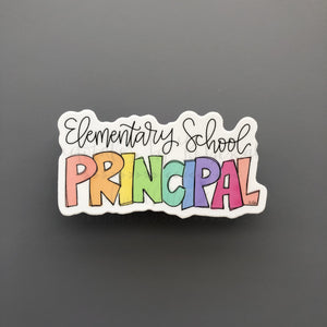 Elementary School Principal Sticker - Doodles by Rebekah