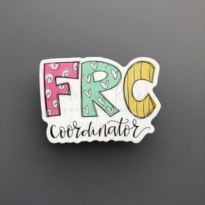 FRC Coordinator Sticker - Doodles by Rebekah