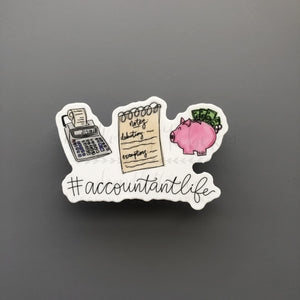 #AccountantLife Sticker - Doodles by Rebekah