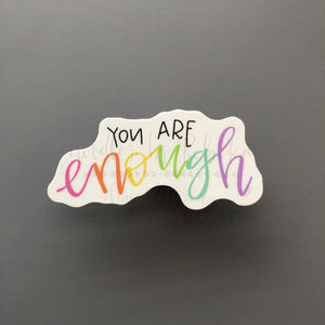 You Are Enough Sticker - Doodles by Rebekah