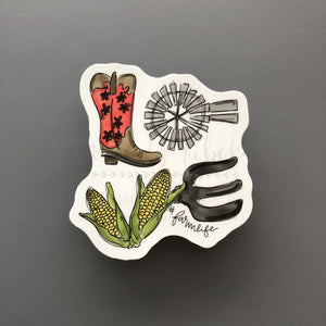 #farmlife Sticker - Doodles by Rebekah
