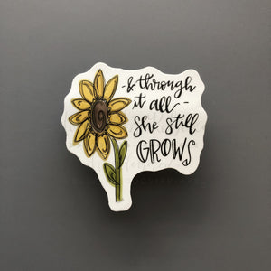 She Still Grows Sticker - Doodles by Rebekah