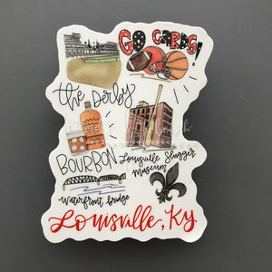 Around The Town Of Louisville, KY - Doodles by Rebekah