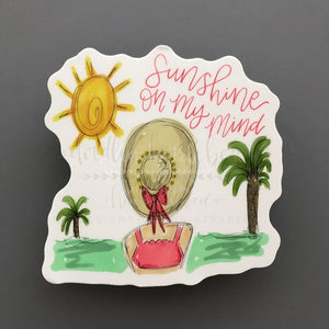 Sunshine On My Mind Sticker - Doodles by Rebekah