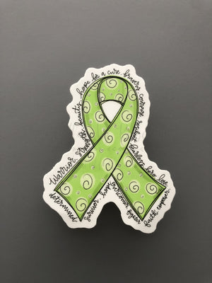 Cancer Awareness Ribbon Stickers - Doodles by Rebekah