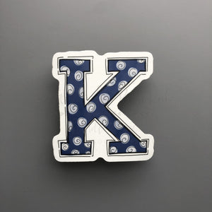 "Kentucky ""K"" Sticker - Doodles by Rebekah"
