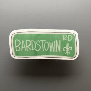 Bardstown Rd. Sticker - Doodles by Rebekah