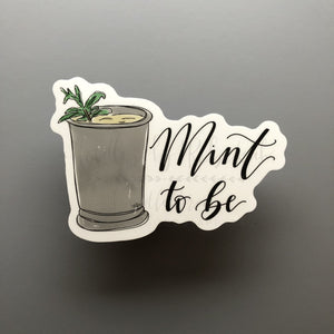 Mint To Be Sticker - Doodles by Rebekah