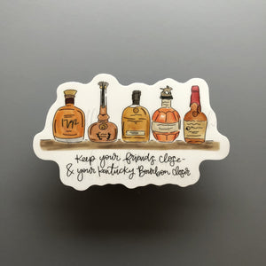 Bourbon Closer Sticker - Doodles by Rebekah