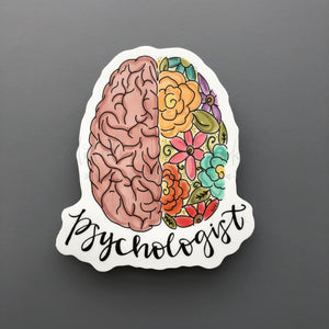 Psychologist Sticker - Doodles by Rebekah