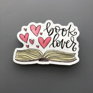 Book Lover Sticker - Doodles by Rebekah